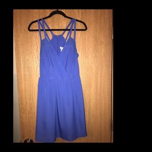 BCBGeneration Periwinkle Strap Dress with Pockets